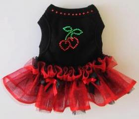 Red Dog TuTu Anti Valentine Hearts Dog Clothes Dog Dress Goth Wedding