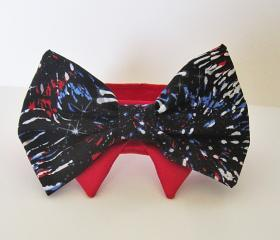 Dog Collar Bow Tie Patriotic Fireworks