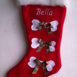 Pet stocking Personalized Christmas Stocking With Your Dog&#039;s Name